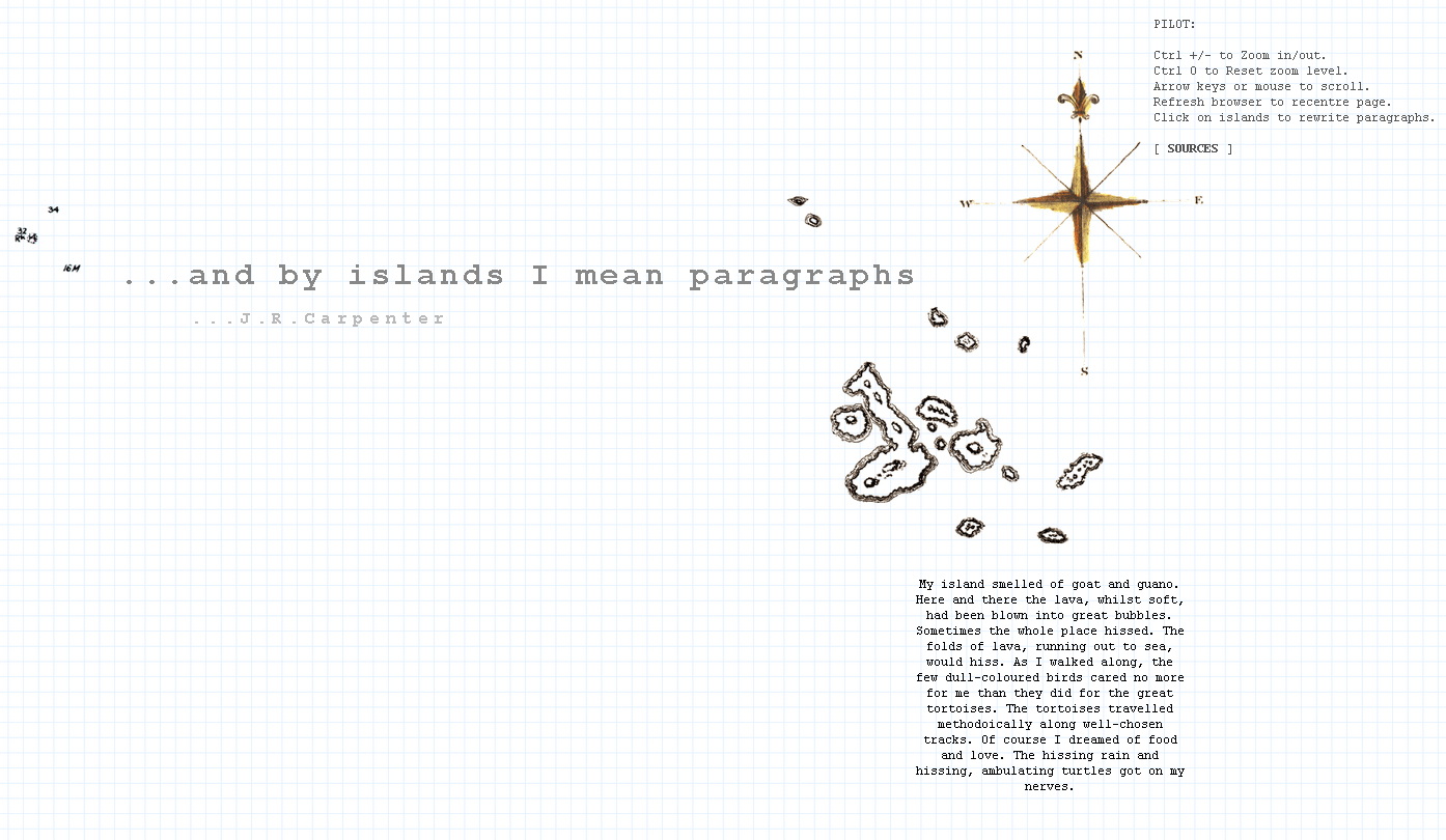 ... and by islands I mean paragraphs || J. R. Carpenter 2013