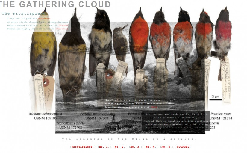 The Gathering Cloud Wins The New Media Writing Prize 2016