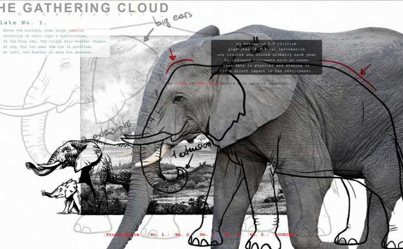 The Gathering Cloud - a new hybrid print and web-based work by J. R. Carpenter