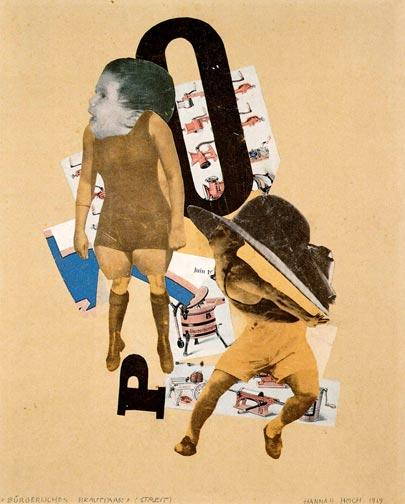 Hannah Hoch, Bourgeois Wedding Couple (1919)