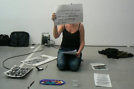 Writing & the Body workshop, Arnolfini, 2012